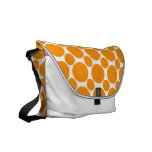 Dot 2 Orange Messenger Bags