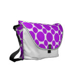 Dot 2 Purple Messenger Bags