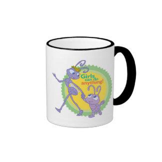 "Dot and Princess Atta ""Girls can do anything!"" Ringer Coffee Mug"
