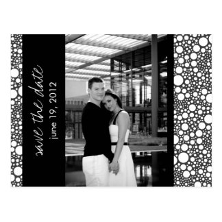 Dot & Block - Custom Save the Date - Black & White Postcard