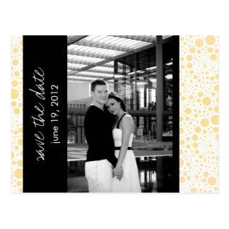 Dot & Block - Custom Save the Date - Canary B & W Postcard