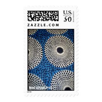 Dot circles West AFrican print stamp