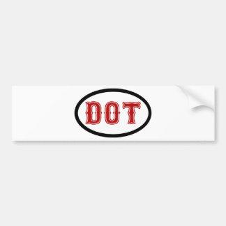 DOT City Bumper Sticker