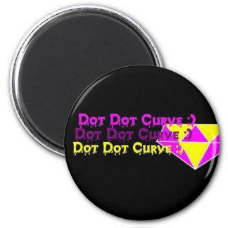 Dot Dot Curve :) Diamond Magnet
