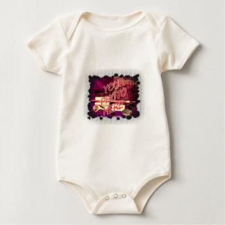 Dot Fade frame template Baby Bodysuit