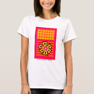 Dot Flowers-n-Stripes with Label T-Shirt