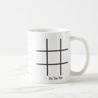 dot game tic tac toe classic white coffee mug