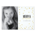 Dot Gold Festive Holiday Photo Card