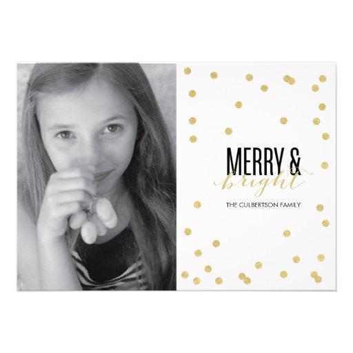 Dot Gold Festive Holiday Photo Card