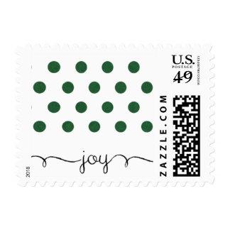 Dot Green Pattern Holiday Stamp