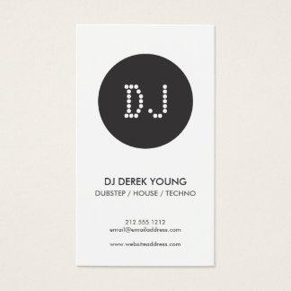 DOT INITIALS LOGO for DJ's Business Card