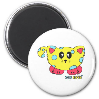 Dot Kitty Pudgie Pet 2 Inch Round Magnet