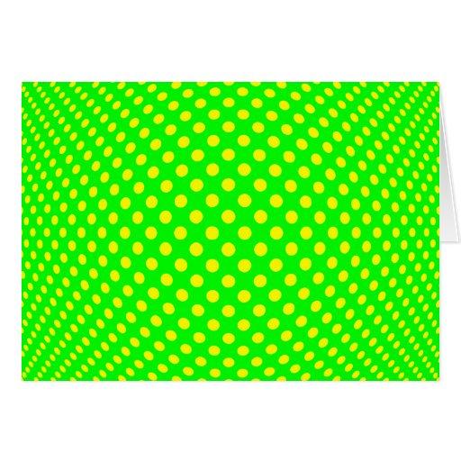 Dot Optical Illusion Card