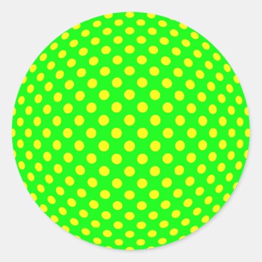 Dot Optical Illusion Classic Round Sticker