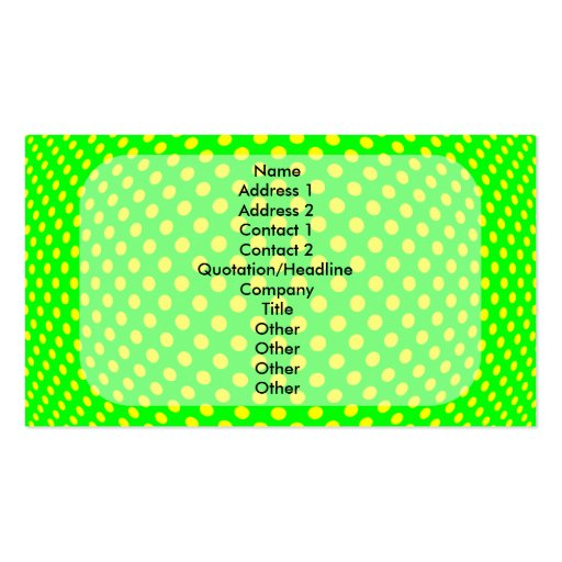 Dot Optical Illusion Double-Sided Standard Business Cards (Pack Of 100)