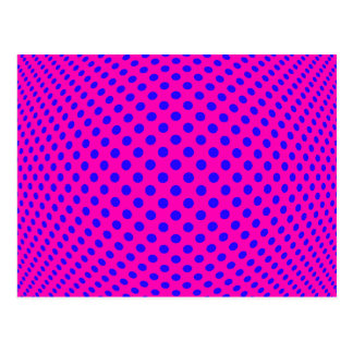 Dot Optical Illusion Postcard