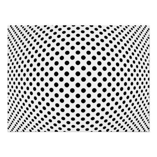 Dot Optical Illusion Poster