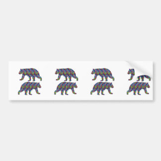 DOT painted BEAR animal wild navinJOSHI NVN107 FUN Bumper Sticker