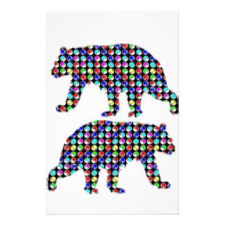 DOT painted BEAR animal wild navinJOSHI NVN107 FUN Stationery Paper