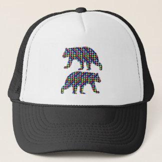 DOT painted BEAR animal wild navinJOSHI NVN107 FUN Trucker Hat