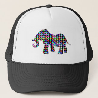 DOT painted ELEPHANT animal zoo NavinJOSHI NVN61 Trucker Hat