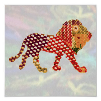 DOT Painted LION Posters