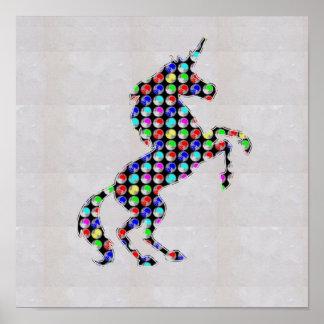 DOT painted UNICORN horn horse   NavinJOSHI NVN125 Poster