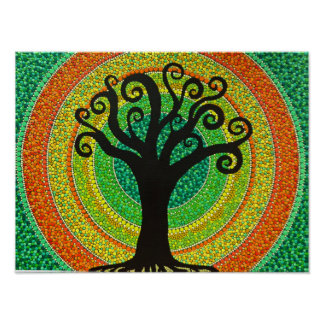 """DOT Painting picture """"arborvitae """" Poster"""