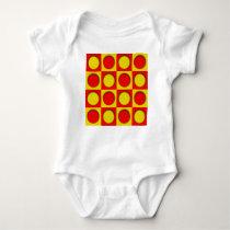 dot pattern baby bodysuit