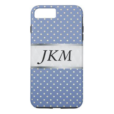 Professional Business dot pattern stylish (blue) iPhone 7 plus case