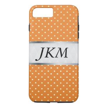 Professional Business dot pattern stylish (orange) iPhone 7 plus case
