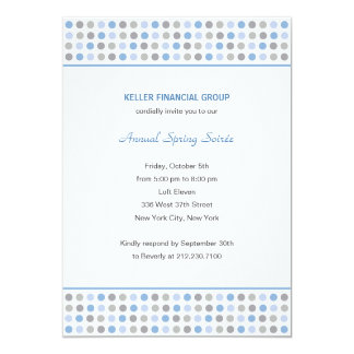 """Dot Patterns Corporate/Business Party Invitation 5"""" X 7"""" Invitation Card"""