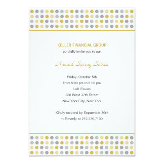 """Dot Patterns Corporate/Business Party Invitation - 5"""" X 7"""" Invitation Card"""