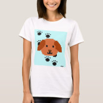 Dot picture dog T-Shirt