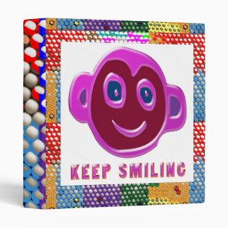 DOT print Art : Keep Smiling KeepSmiling 3 Ring Binders
