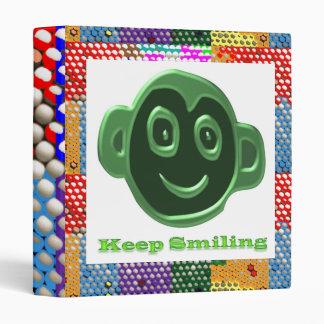 DOT print Art : Keep Smiling KeepSmiling Binder