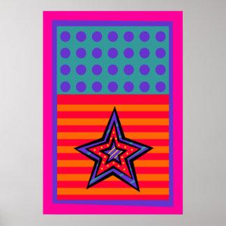 Dot Stars-n-Stripes Poster