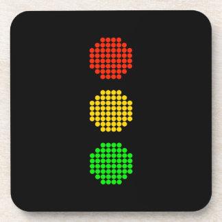 Dot Stoplight Colors Beverage Coaster