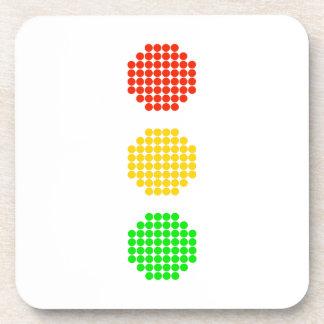 Dot Stoplight Colors Coaster