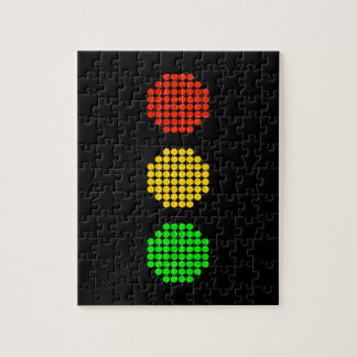 Dot Stoplight Colors Jigsaw Puzzle