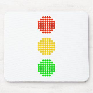 Dot Stoplight Colors Mouse Pad