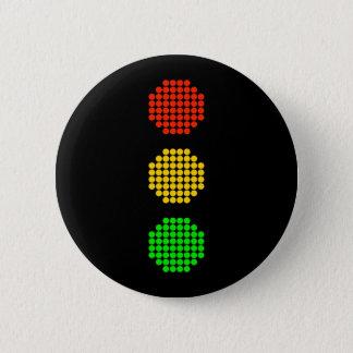 Dot Stoplight Colors Pinback Button