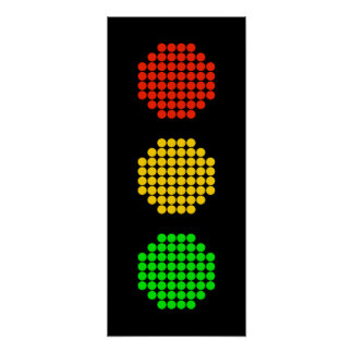 Dot Stoplight Colors Poster