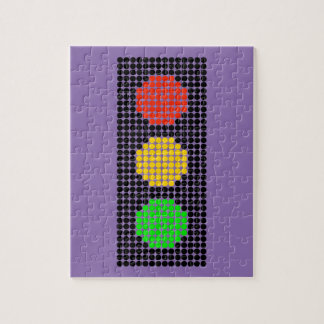 Dot Stoplight Jigsaw Puzzle