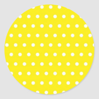 dot sun-yellow (several products selected) classic round sticker