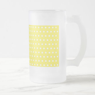 dot sun-yellow (several products selected) frosted glass beer mug