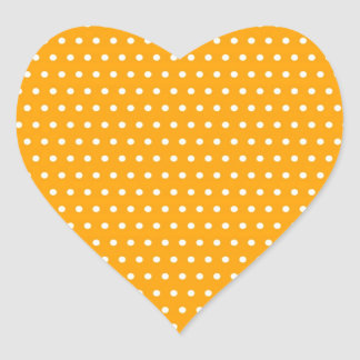 dot sun-yellow (several products selected) heart sticker