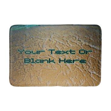 Beach Themed Dot Text Template Exotic Beach Bathroom Mat