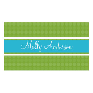 Dot to Dot Green Business Cards