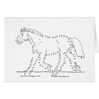 Dot to Dot Trotting Horse Card